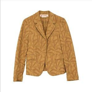 New Marni Patterned Blazer Jacket US4,IT40